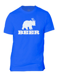 Bear + Deer = Beer  Mens Short-Sleeve T-Shirt