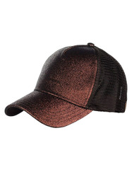 CC Glitter Pony Tail Outlet Mesh Adjustable Hat