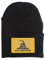Dont Tread on Me Snake Cuffed Beanie