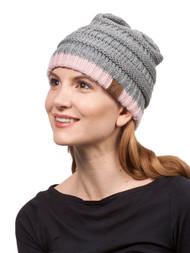 Gravity Threads 2 Tone Stripe Knit Beanie