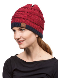 Gravity Threads 2 Tone Stripe Knit Beanie
