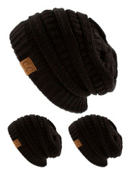 CC Slouch Thick Knit Beanie ( 3 pack )