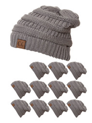 CC Slouch Thick Knit Beanie ( 12 pack )