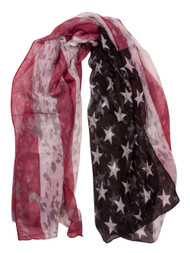 Distressed Style USA Design Scarf