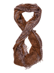 Brown Dotted Scarf