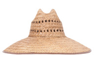 """Gravity Outdoor Co. Patch Ultra 5"""" Brim Straw Sun Hat w/ Panel Holes"""
