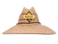 "Gravity Outdoor Co. Patch Ultra 5"" Brim Straw Sun Hat w/ Panel Holes"