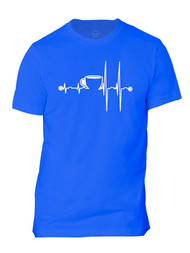 Coffee Heartbeat Mens Short-Sleeve T-Shirt