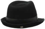 Peter Grimm Brogan Black Fedora