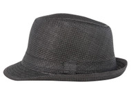 JFH Black Paper Fedora w/ Band