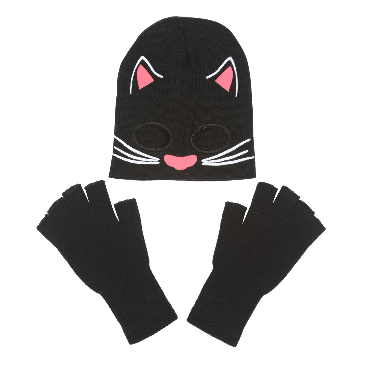 b81958f8003 Cat Costume Kit Youth - Cat Half Mask Beanie