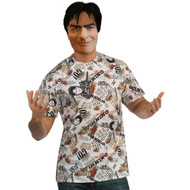 Charlie Sheen Shirt and Mask