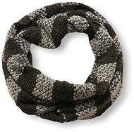D&Y Women's Striped Textured Knit Infinity Scarf - Olive