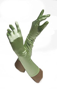 Gravity Threads Satin Opera Gloves Above the Elbow 14.7 inches Baby Blue