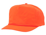 Nylon Crinkle Golf Cap - Neon Orange