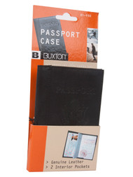 Buxton Passport Case - United States - Black