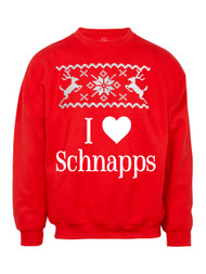I Heart Schnapps Christmas Ugly Sweater