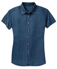 Gravity Threads Womens Short-Sleeve Value Denim Shirt