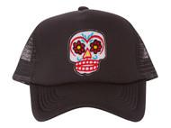 Candy Skull Patch Trucker Foam Panel Hat