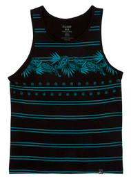 EXR Paisley Stripe Mens Tank Top