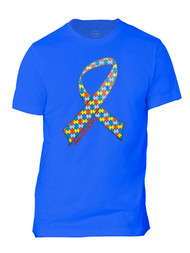Autism Awareness Ribbon Mens Short-Sleeve T-Shirt