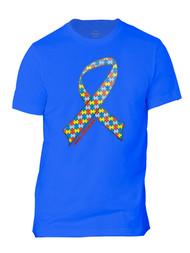 Autism Awareness Ribbon Mens Short-Sleeve T-Shirt