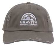 Gravity Outdoor Co. Distressed Adjustable Baseball Cap