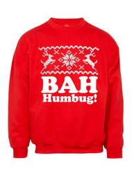 Mens Bah Humbug! Ugly Christmas Ugly Sweatshirt