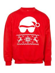 Mens Santa Sunglasses Ugly Christmas Ugly Sweatshirt