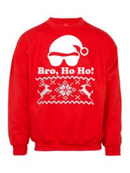 Mens Bro Ho Ho Deer Ugly Christmas Ugly Sweatshirt