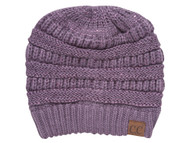 C.C Ponytail Knitted Beanie w/ Sequins