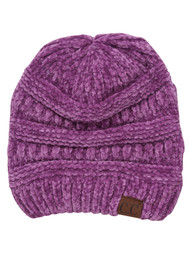 Ribbed Chenille Winter Beanie