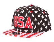 Stars and Stripes USA Snapback Cotton Hat