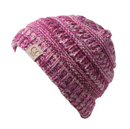 Kids Soft Cable Knit High Ponytail Winter Beanie