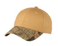 Top Headwear Twill Cap w/ Camouflage Brim