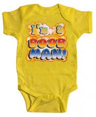 "Baby ""I'm a Boob Man"" Bodysuit (Various Colors)"