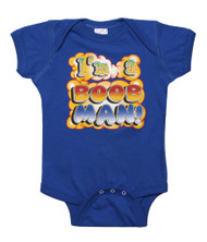 "Baby ""I'm a Boob Man"" Bodysuit (Various Colors)"