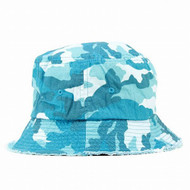 Peter Grimm Billie Distressed Camo Bucket Hat