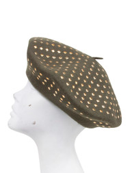 Gold Colored Studded Beret
