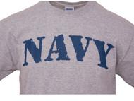 Mens US Navy Heather Grey Short-Sleeve T-Shirt