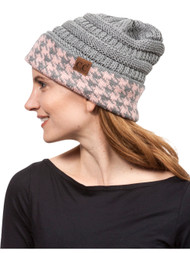 Gravity Threads Houndstooth Cuff Knit Beanie