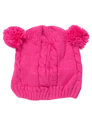 Double Pom Infant Winter Knitted Beanie