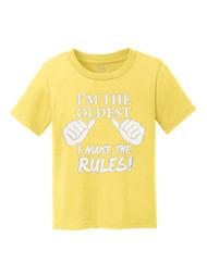 I'm the Oldest, I Make the Rules Kids Cotton T-Shirt