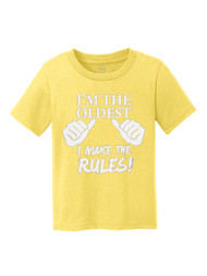 I'm the Oldest, I Make the Rules Kids Cotton T-Shirt
