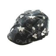 Top Headwear Womens Floral Print Driver Cap