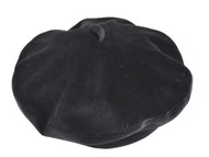 Top Headwear Wool Beret w/ Loop Band