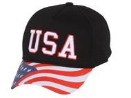 TopHeadwear USA Low Profile Striped Brim Adjustable Hat