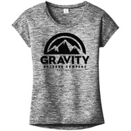 Womens Gravity Outdoor Co. PosiCharge Heather T-Shirt