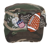 TopHeadwear Winged Football Distressed Cadet Cap