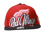 Detroit Red Wings Adjustable Hat, Red + Includes GT Sweat Wristband